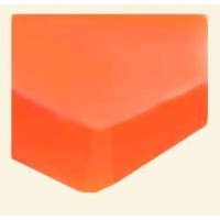 SheetWorld Fitted Pack N Play (Graco Square Playard) Sheet - Burnt Orange Jersey Knit - Solid...