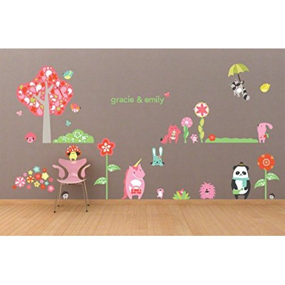 Oopsy Daisy Fine Art for Kids Timberland Friends Girl Peel and Place Childrens Wall Decal by Robin...