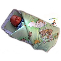 BlueberryShop Classic with Pillow Swaddle Wrap Blanket Sleeping Bag for Newborn baby shower GIFT...
