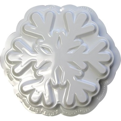 CK Products 49-4080 Plastic Snowflake Cake Pan, White by CK Products