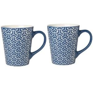 Now Designs Tile Mugs, Dark Blue, Set of 2 by Now Designs [並行輸入品]