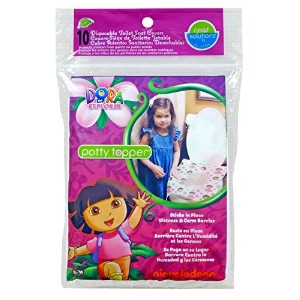 Neat Solutions Dora the Explorer Potty Topper Disposable Stick-in-Place Toilet Seat Covers, 10...