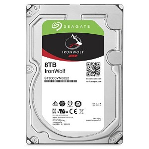 ST8000VN0022 [NAS向けHDD IronWolf(8TB 3.5インチ SATA 6G 7200rpm 256MB)]