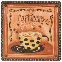 CoasterStone AS9030 Absorbent Coasters, 4-1/4-Inch, Nostalgic Coffee, Set of 4 by CoasterStone