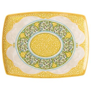 Grasslands RoadメラミンSpring Meadow Serving Platter、12 by 16インチ