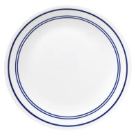 Livingware Classic Cafe 10.25 Dinner Plate [Set of 6] Color: Blue by CORELLE