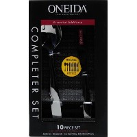 Oneida 10 PieceステンレススチールCompleterセットEssential Additions ( Serveセット2 & 8ステーキナイフ