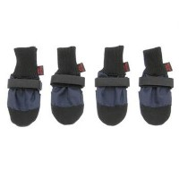 Muttluks Woof Walkers 3.25-Inch to 3.75-Inch Dog Boots, Medium, Blue, Set of 4 by Muttluks