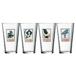 Arc International Luminarc Guinness Assorted Vintage Labels Pub Pint Glasses, 16-Ounce Clear Set of...