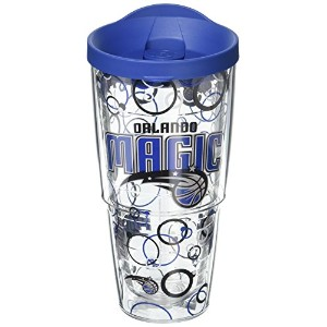 Tervis NBA Orlando Magic Bubble Up Wrap Tumbler with Blue Lid、24オンス、クリア