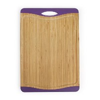 Neoflam Flutto 15 Bamboo Cutting Board with Non-Slip Edges and Drip Groove, Purple by Neoflam