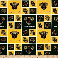 Collegiate Cotton Broadcloth Baylor Fabric by Sykel Enterprises