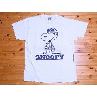 Buzz Rickson's[バズリクソンズ]×PEANUTS[ピーナッツ] Tシャツ スヌーピー SNOOPY, TYPE A-2 BR76685 (OFF WHITE)