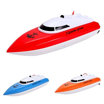 LuxBene(TM)BS#S Kid Remote Control Boat RC Super Mini Speed Boat High Performance Boat Toy