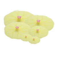Charles Viancin Lilypad Lid Set of 6 - Large, Medium, Med/Small, Small, Drink Cover Set by Charles...