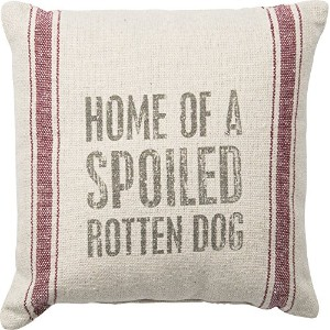 """Spoiled Rotten Dog 10"""" Square Small Accent Pillow by Primitives By Kathy [並行輸入品]"""