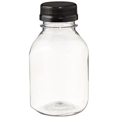 Clear Food Grade Plastic Juice Bottles 8 Oz with Cap 6/pack