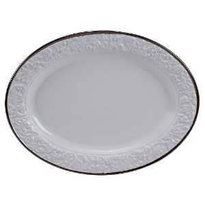 "Certified International 57610 Solstice Oval Platter , 16 "" x 12インチ、クリーム"