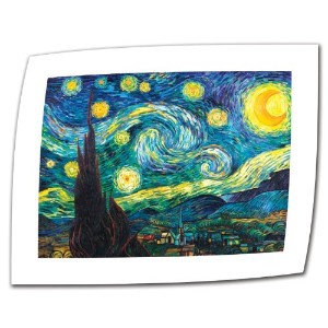 ' Starry Night ' by Vincent Van Gogh Rolledキャンバスアート 18 by 24-Inch ブルー 0van005a1824r