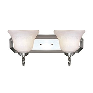 Trans Globe Lighting 3412 BN 2-Light Bath Bar, Brushed Nickel [並行輸入品]