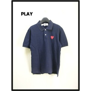 S NAVY 【PLAY COMME des GARCONS コムデギャルソン 赤ハート ポロシャツ】AZ-T006