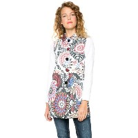 【SALE 50%OFF】デシグアル Desigual ABRIG_CLUB DE BLUES (BLANCO)
