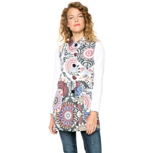 【SALE 49%OFF】デシグアル Desigual ABRIG_CLUB DE BLUES (BLANCO)