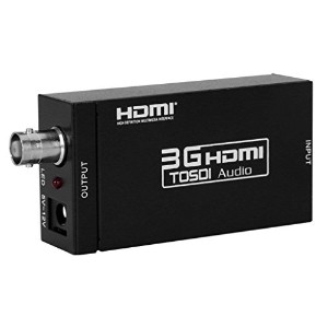 Eleview 3G HDMI to SDI コンバーター hdmi sdi 変換器 HDMI to 3G-SDI/HD-SDI/SD-SDI 1080P ESD保護機能搭載 (HDMI to...