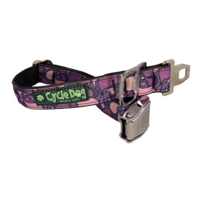 Cycle Dog Bottle Opener Recycled Dog Collar with Seatbelt Metal Buckle, Purple Lava Lamp, Medium by...