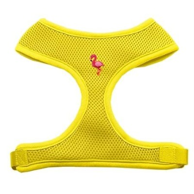 Mirage Pet Products 73-18 MDYW Pink Flamingo Chipper Yellow Harness Medium