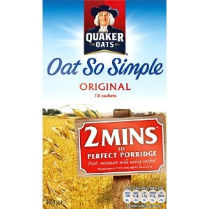 Quaker Oats - Oat So Simple - Original - 324g