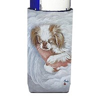 Japanese Chin in an Angels Arms Ultra Beverage Insulators forスリム缶mh1037muk