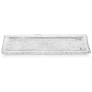 IVV Glassware Diamante Rectangular Platter, 21 by 6-5-Inch, Clear [並行輸入品]
