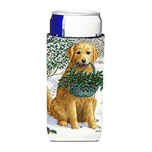 Caroline 's TreasuresイエローLabrador and Holly Michelob Ultra Koozies forスリム缶、マルチカラー