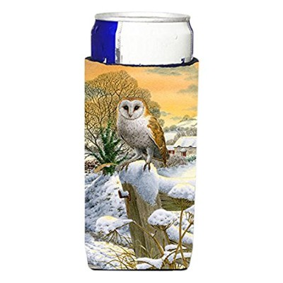 Caroline 's Treasures Sunset Barn Owl Michelob Ultra Koozies forスリム缶、マルチカラー