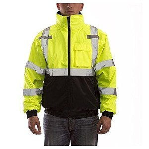 BOMBER 3.1 J26172.4X ANSI 107 Class 3 Jacket with 2' Silver Reflective Tape, Size 4X, Fluorescent...