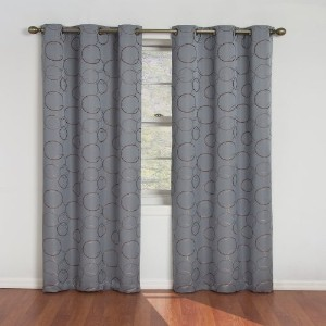 Eclipse Meridian Blackout Grommet Window Panel, 42-Inch By 84-Inch, River Blue by Eclipse Curtains ...