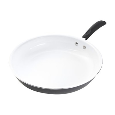 Gibson Home 64584.01 Hummington Eco-Friendly 12-Inch Ceramic Non-Stick Open Fry Pan, White by...