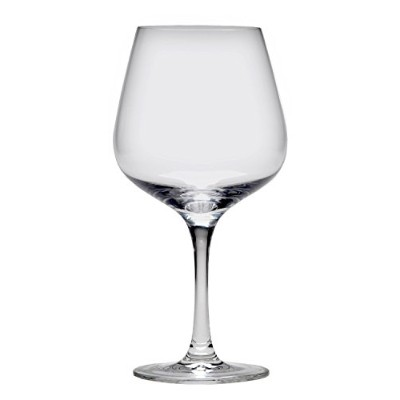 D&V Valore Collection European Crystal Glass, Lead Free, Break-Resistant, Burgundy Light Red Wine...