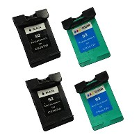 BavvoR Remanufactured Ink Cartridge for HP 92/93(Black/Color) use in HP PhotoSmart C3170 Printer -...