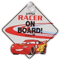 "Disney/PIXAR ""cars2"" ""LITTLE RACER ON BOARD""(BABY ON BOARD / BABY IN CAR) LIGHTNING McQUEEN ディズニー..."