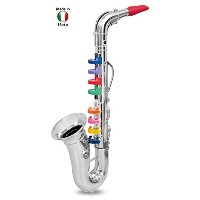 Click N' Play Saxophone with 8 Colored Keys Metallic Silver [並行輸入品]