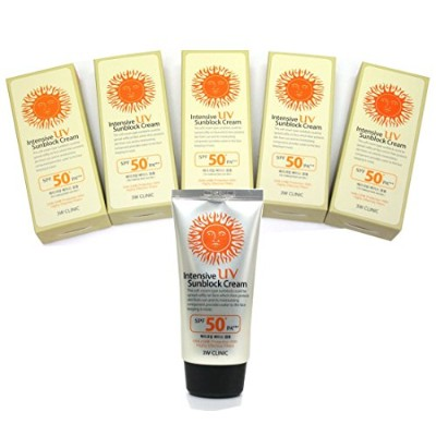 [DODO 3w Clinic] インテンシブUV日焼け止めクリームSPF50 PA+++ 70ml * 5ea / Intensive Uv Sunblock Cream SPF50 PA+++...