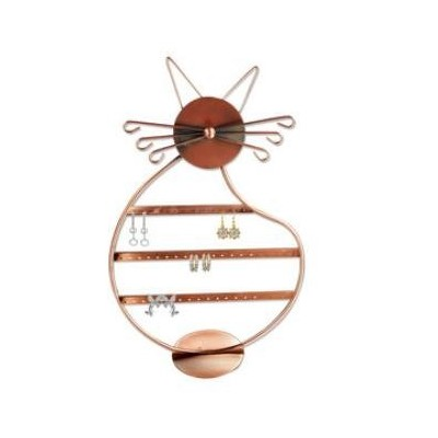 Cat Shape Copper Colour Wire Earring Holder/Earring Tree/Earring Oraganizer/Earring Stand/Earring Display