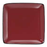Cuisinart Melle Collection Stoneware Open Stock Square Salad Plate, 8.5-Inch, Red [並行輸入品]