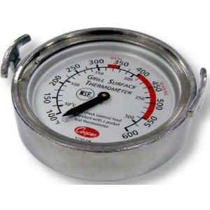 Cooper-Atkins 3210-08-1-E Bi-Metals Grill Thermometer, 100 to 600 degrees F Temperature Range ...