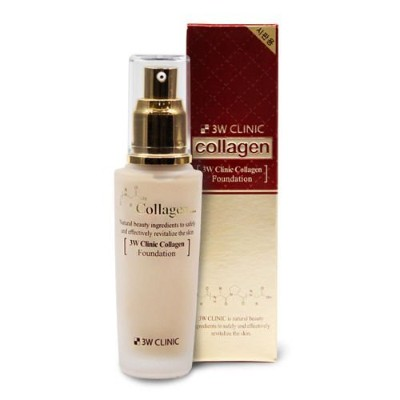 3Wクリニック[韓国コスメ3w Clinic]Collagen Foundation Perfect Cover Make-Up Base コラーゲンファンデーションパーフェクトカバーメイクアップベー...