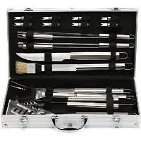 Estilo EST0239 19 Piece Stainless Steel BBQ Grill Tool Set with Aluminum Storage Case [並行輸入品]