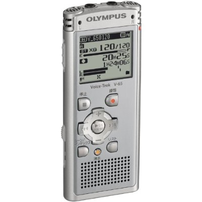 OLYMPUS ICレコーダー 2GB Voice-Trek MP3/WMA SLV ライトシルバー V-65