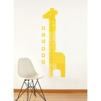 Petit Collage Fabric Wall Growth Chart Decal, Giraffe by Petit Collage